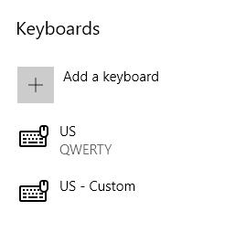 Remove Keyboard Layout